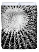 Barrel Cactus Black And White Duvet Cover