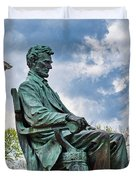 Bascom Hall Lincoln Statue Duvet Cover