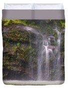 Base Of Waimoku Falls Duvet Cover