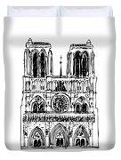 Basilica Notre Dame Duvet Cover