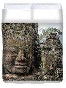 Bayon Faces, Angkor Wat, Cambodia Duvet Cover