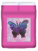 Be Happy Butterfly Duvet Cover
