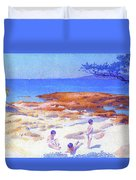 Beach At Cabasson - Digital Remastered Edition Duvet Cover
