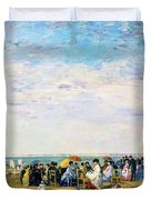 Beach Of Trouville - Digital Remastered Edition Duvet Cover