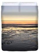 Beach Sunset, Blackpool, Uk 09/2017 Duvet Cover