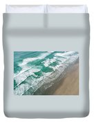 Beach Waves From Above Duvet Cover