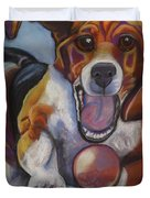 Beagle Chasing Ball Duvet Cover