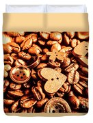 Beans And Buttons Duvet Cover