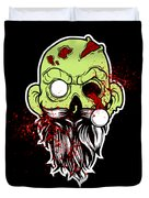 Bearded Zombie Undead With Beard Halloween Party Dark Duvet Cover