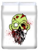 Bearded Zombie Undead With Beard Halloween Party Light Duvet Cover