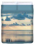 Beautiful Clouds Over Pamlico Sound Duvet Cover