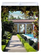 Beautiful Courtyard Getty Villa  Duvet Cover