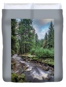 Beautiful Ethereal Style Landscape Image Of Small Brook Flwoing  Duvet Cover