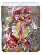Beautiful Fantastic Realistic Flowers Duvet Cover