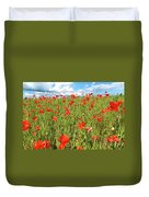 Beautiful Fields Of Red Poppies Duvet Cover
