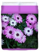 Beautiful Pink Flowers In Grass Duvet Cover