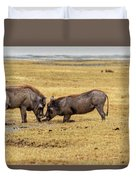 Beauty On The Hoof, The Warthog Duvet Cover