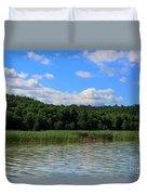 Beaver Lodge On Southern Lake Champlain New York Duvet Cover