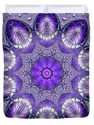 Bejeweled Easter Eggs Fractal Abstract Duvet Cover by Rose Santuci-Sofranko
