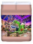 Bellagio Conservatory Spring Display Front Side View Wide 2018 2 To 1 Aspect Ratio Duvet Cover