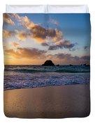 Bermuda Beach Sunrise Duvet Cover