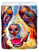 Bernese Mountain Dog Duvet Cover