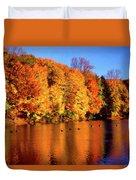 Bernharts Dam Fall 008 Duvet Cover