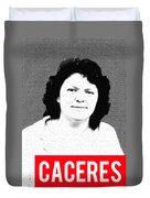 Berta Caceres Duvet Cover by MB Dallocchio