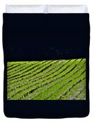 Between The Rows Duvet Cover