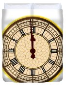 Big Ben Midnight Clock Face Duvet Cover