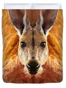 Big Boy Red Kangaroo   Duvet Cover