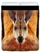 Big Boy Red Kangaroo   Duvet Cover