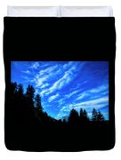 Big Sky And Trees Duvet Cover