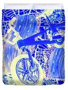 Biking Blue Duvet Cover
