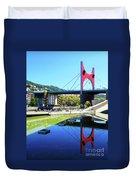 Bilbao Reflections Duvet Cover by Rick Locke
