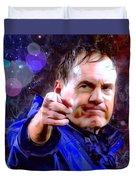 Bill Belichick Spotlight Portrait Duvet Cover