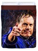 Bill Stephen Belichick Portrait Duvet Cover