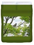 Bird Resting On Branch Duvet Cover