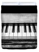 Black And White Piano Duvet Cover