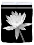 Black And White Water Lily Duvet Cover