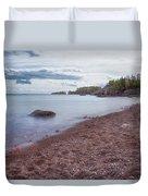 Black Beach Park Duvet Cover by Susan Rissi Tregoning