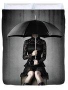 Black Rain Duvet Cover
