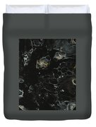 Black, Silver And Gold Abstract Duvet Cover