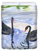 Black Swans - Soulmate Duvet Cover