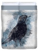 Blackbird Grunge Edition Duvet Cover