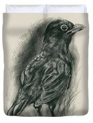 Blackbird In The Grass Duvet Cover by MM Anderson