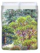 Blake Garden, Berkeley Ca Duvet Cover by Judith Kunzle