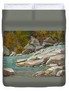 Blindman River, Blackfalds Duvet Cover
