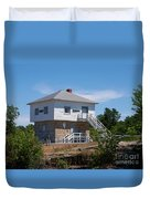 Blockhouse At Kingston Mills On The Rideau Canal Duvet Cover