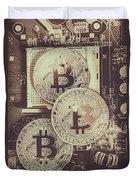 Blocks Of Bitcoin Duvet Cover